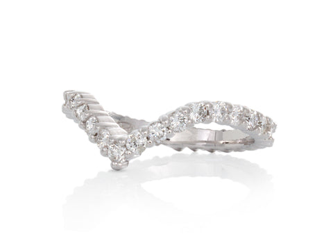 Facets Princess Wedding Rings