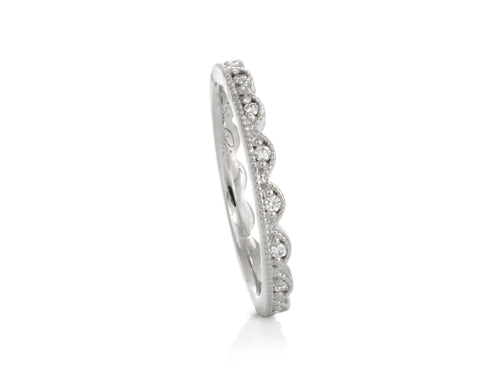 Pamela Lauz Jewellery - Lace Diamond Stacking Band