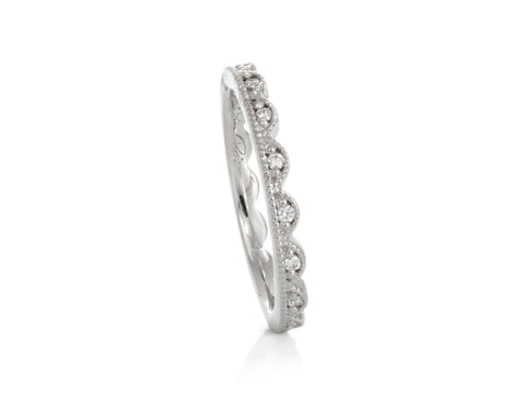 Sculptural Twist Diamond Engagement Ring
