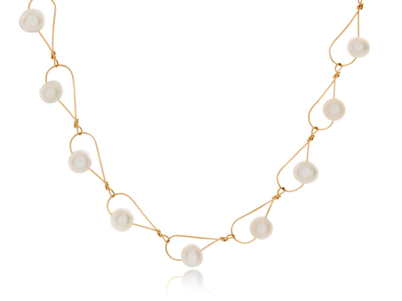 Pamela Lauz Jewellery - Rain White Pearl Necklace