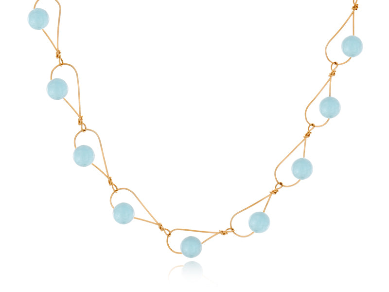 Pamela Lauz Jewellery - Rain Aquamarine Necklace