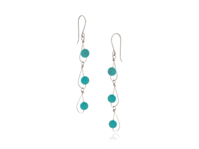 Pamela Lauz Jewellery - Rain Turquoise Trio Earrings