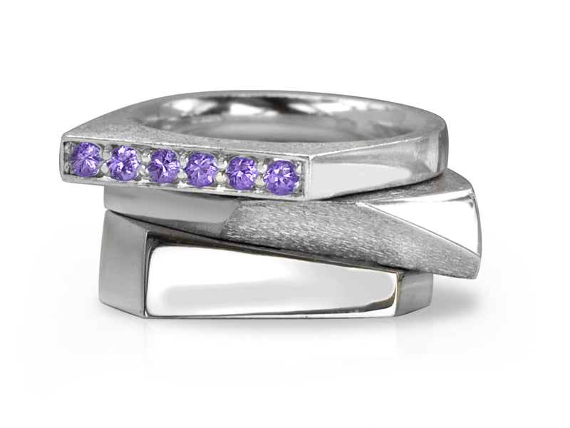 Pamela Lauz Jewellery - Facets & Iris Stacking Rings
