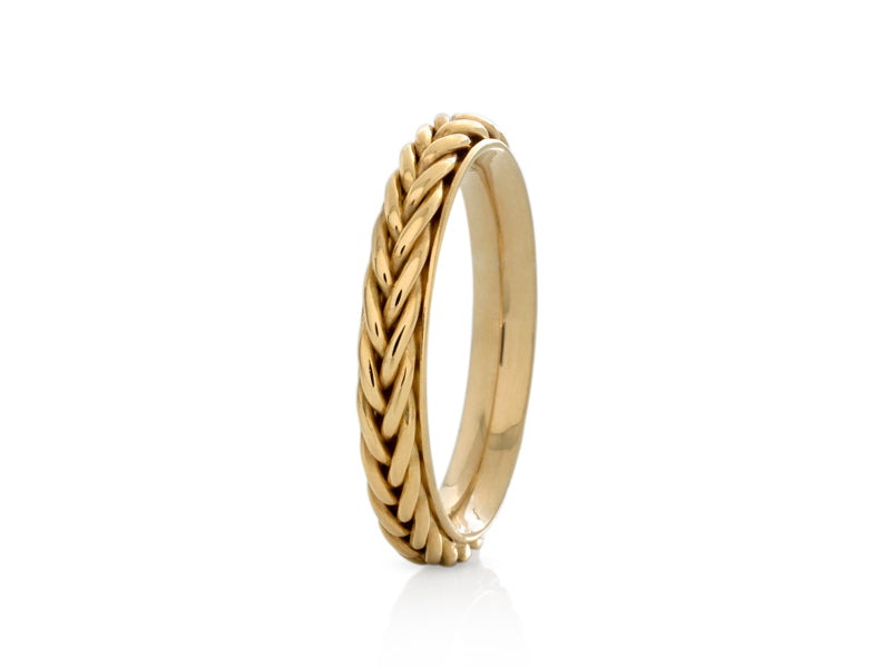 Pamela Lauz Jewellery - Hand-Braided Yellow Gold Wedding Band