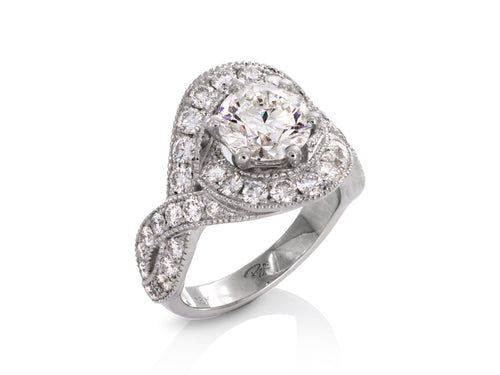 Pamela Lauz Jewellery - Lovers Knot Diamond Engagement Ring