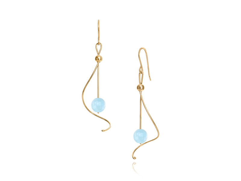 Pamela Lauz Jewellery - Pirouette Aquamarine Earrings