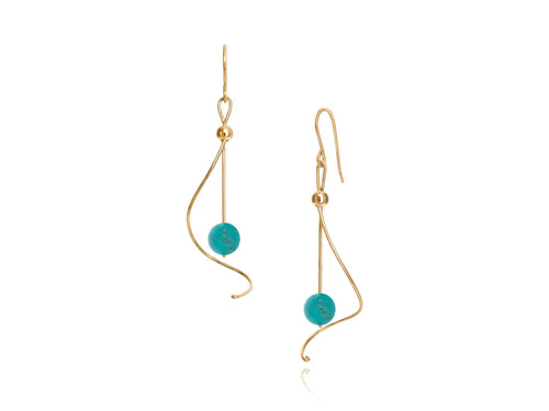Pamela Lauz Jewellery - Pirouette Turquoise Earrings