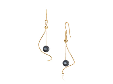 Pirouette White Pearl Earrings