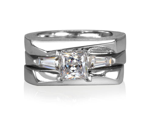 Pamela Lauz Jewellery - Facets Princess Wedding Rings