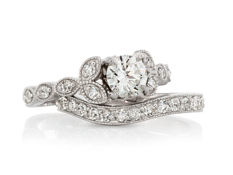 Pear Cut Diamond Wide Ring