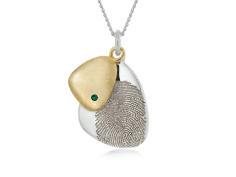Terra Medium Open Pebble Necklace