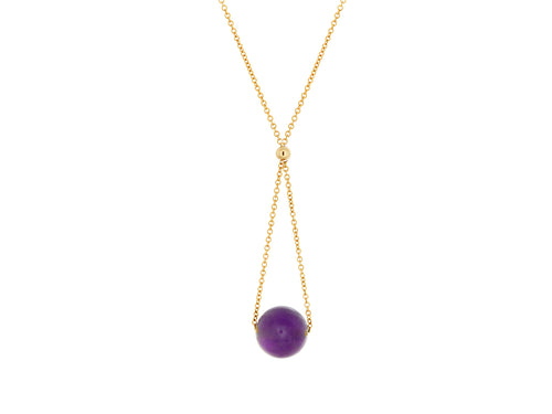 Chandelier Amethyst Dainty Necklace