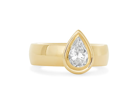 Surface Two -Toned Ring
