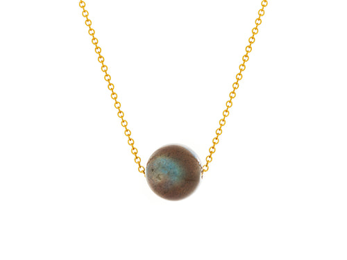 Pamela Lauz - Labradorite Simple Slide Necklace Goldfilled