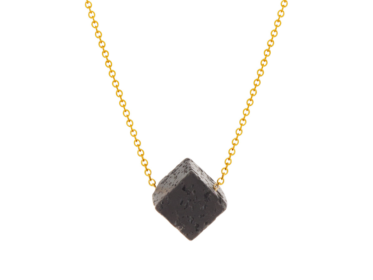 Element Lava Rock Cube Pendant