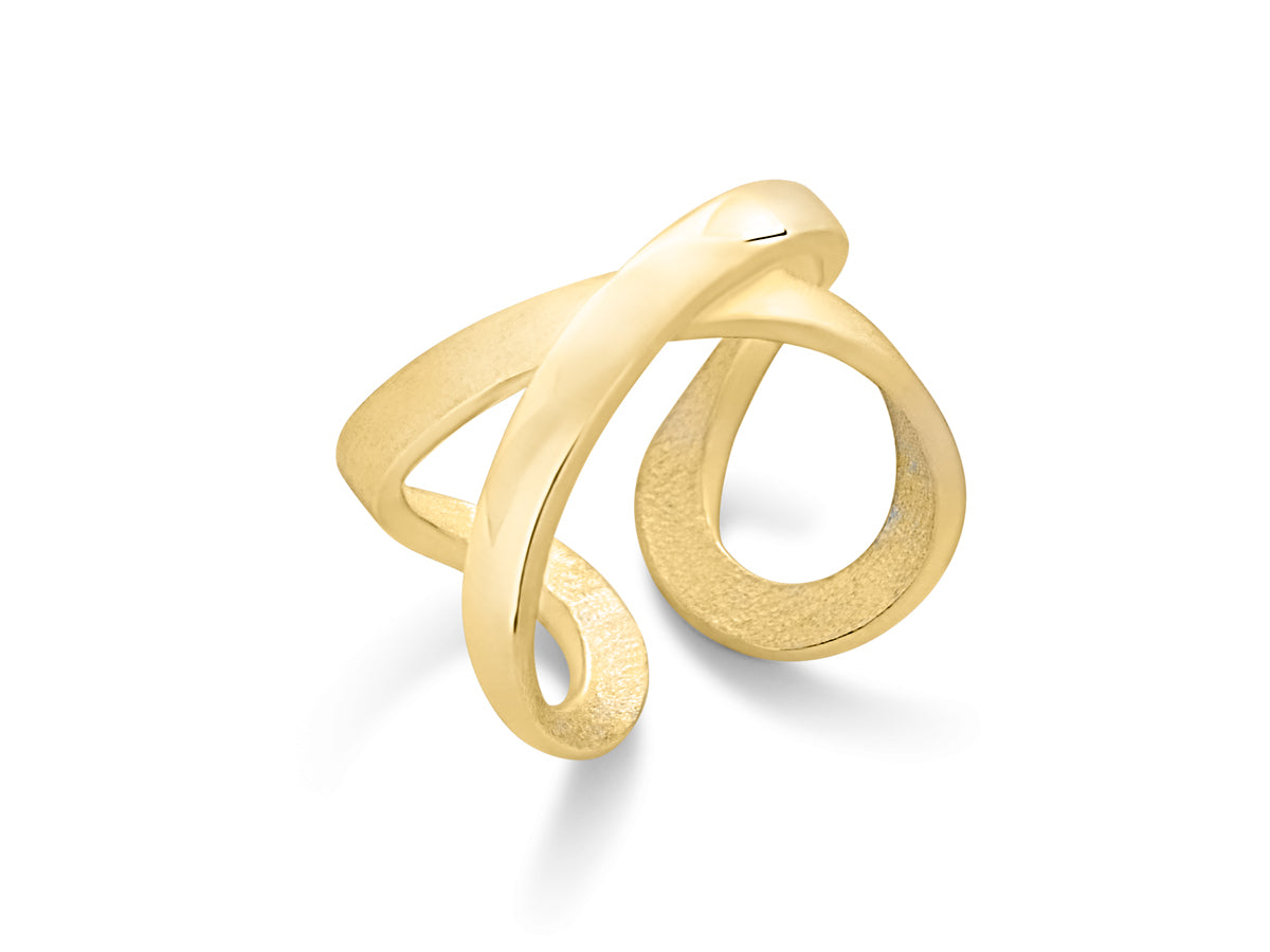Pamela Lauz - Infinity Twist Spinning Yellow Gold Ring