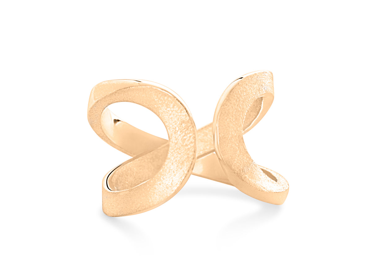 Pamela Lauz - Infinity Twist Spinning Rose Gold Ring