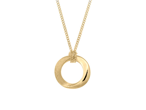 Pamela Lauz Infinity Small Open Circle Gold Twist Necklace
