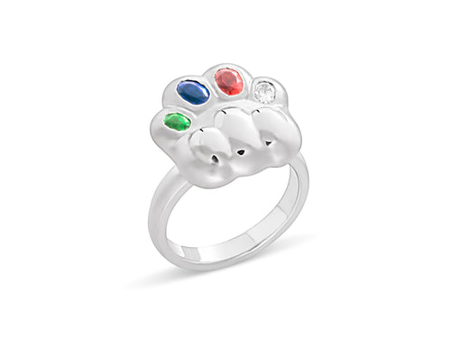 Cat's Paw Birthstone Ring