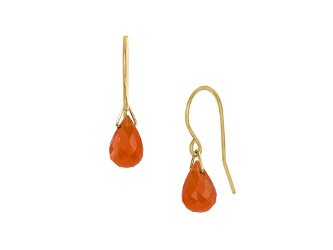 Lantern Citrine Hook Dangle Earrings