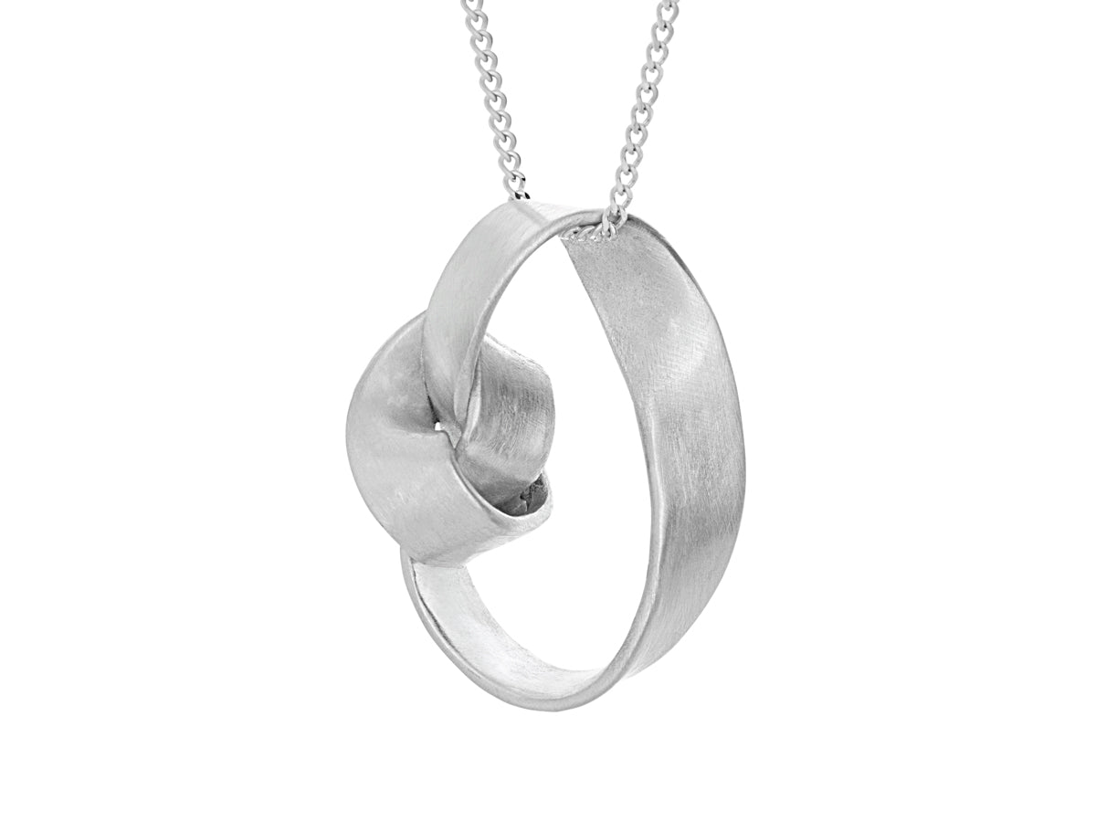 Pamela Lauz - Lasso Grand Love Knot Silver Necklace