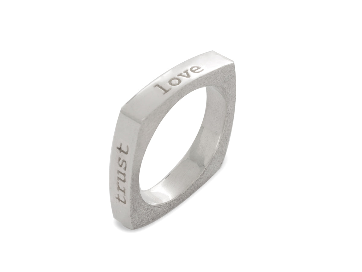 Mantra Ring - Love, Trust, Value, Respect