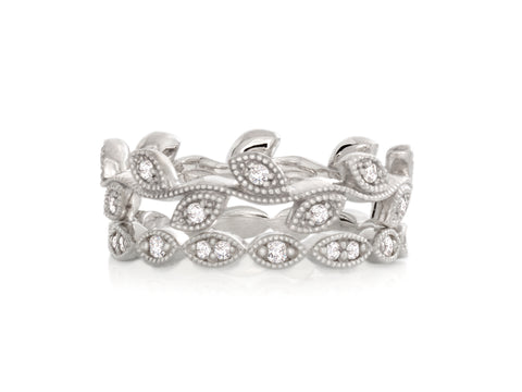 Dancing Dolci Diamond Stacking Rings