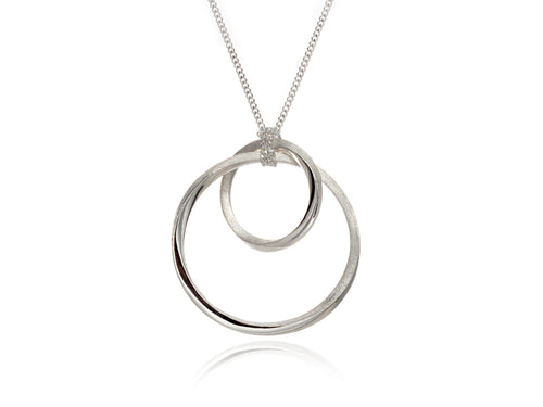 Mobius Orbit Silver and Bronze Pendant