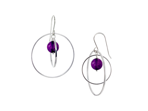Pirouette Amethyst Twist Drop Earrings