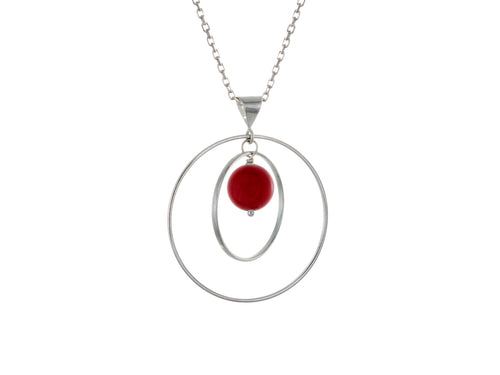 Pamela Lauz - Orbit Red Sea Bamboo Loop Necklace