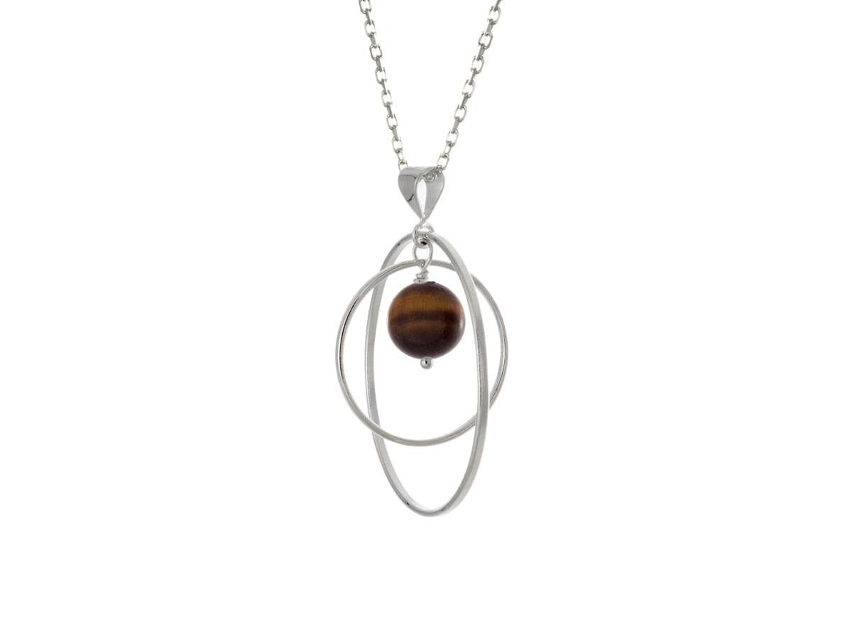 Pamela Lauz - Orbit Golden Tiger's Eye Loop Necklace