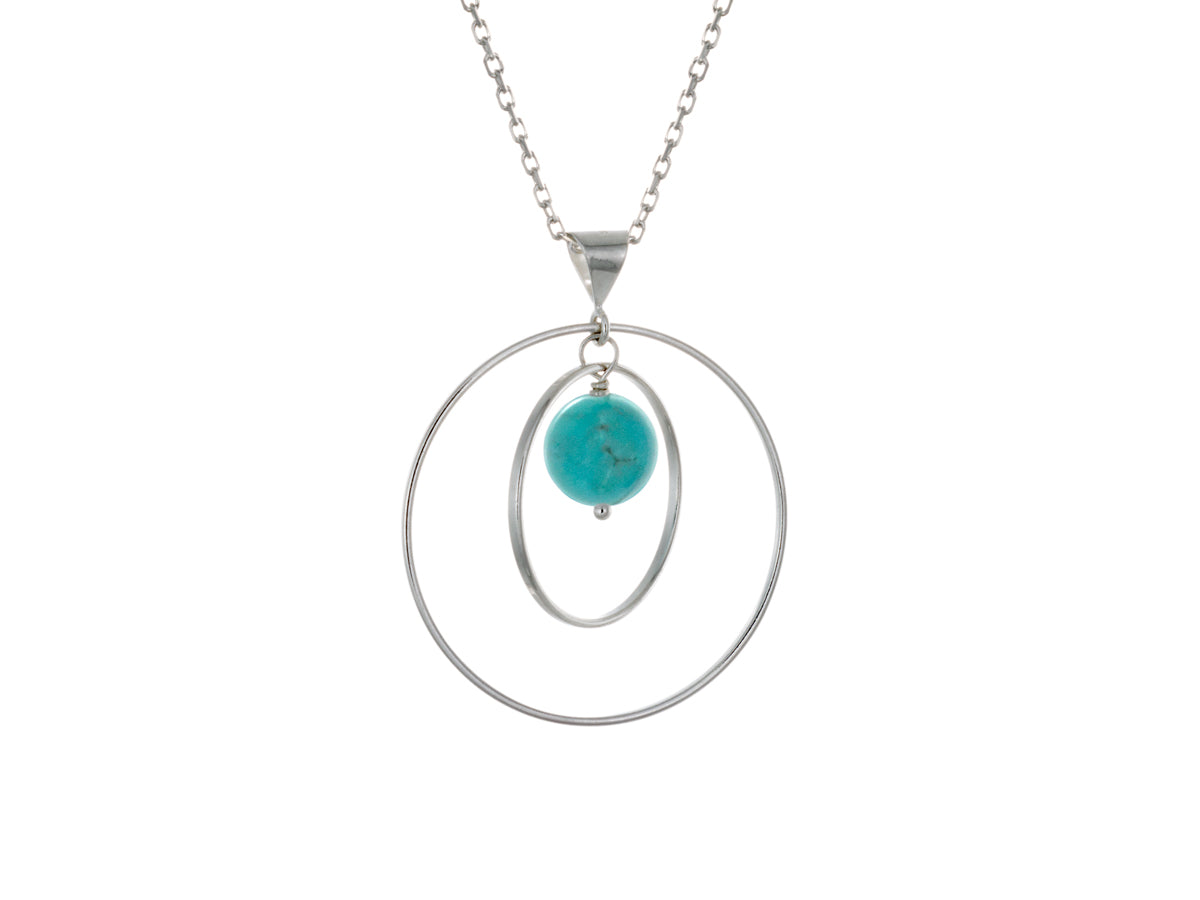 Pamela Lauz - Orbit Turquoise Loop Necklace