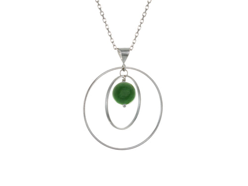 Pamela Lauz - Orbit Green BC Jade Loop Necklace