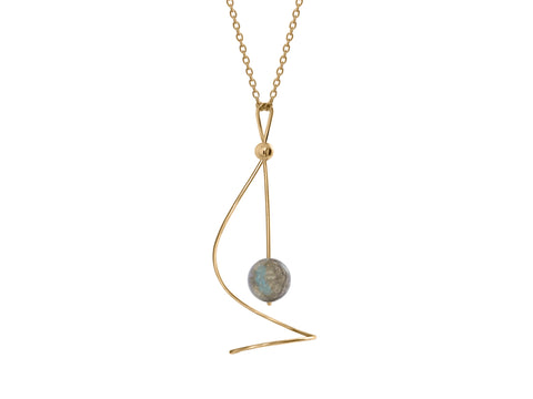 Aqua London Blue Topaz Pear Shaped Necklace