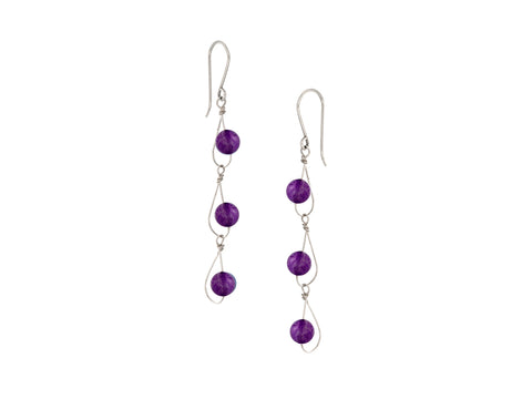 Element Amethyst Drop Earrings
