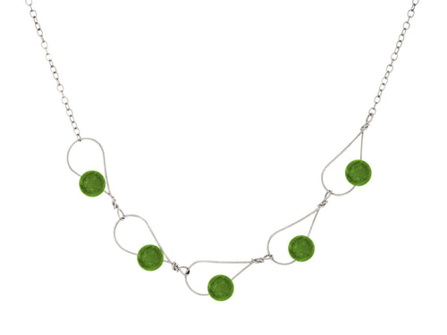 Rain BC Jade Segment Necklace