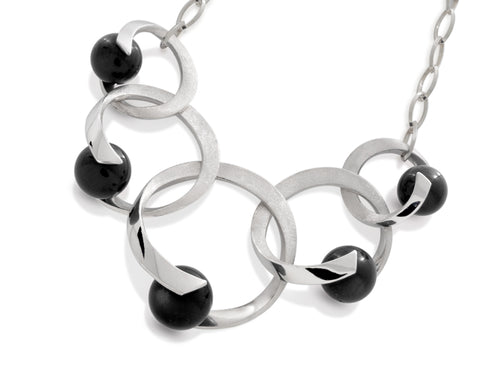 Rhapsody Quintet Black Onyx Necklace