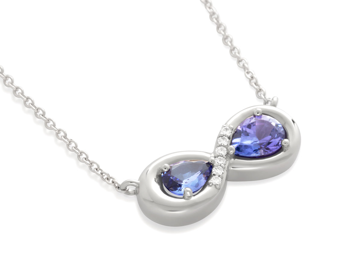 Tanzanite Diamond Infinity Pendant