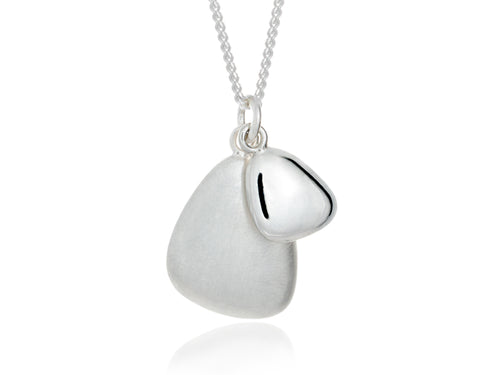 Pamela Lauz  - Terra Duo Pebble Silver Necklace