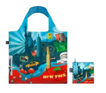 LOQI Tote: Urban NY Blue/Red