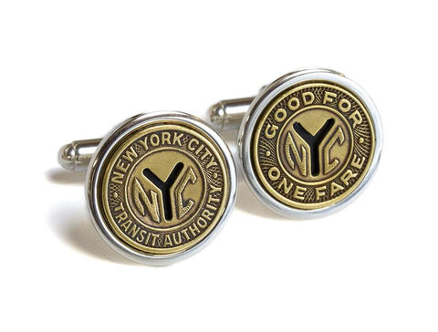 Sterling Silver Token Cufflinks