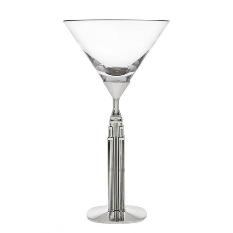 Iconic New York  Martini Glass