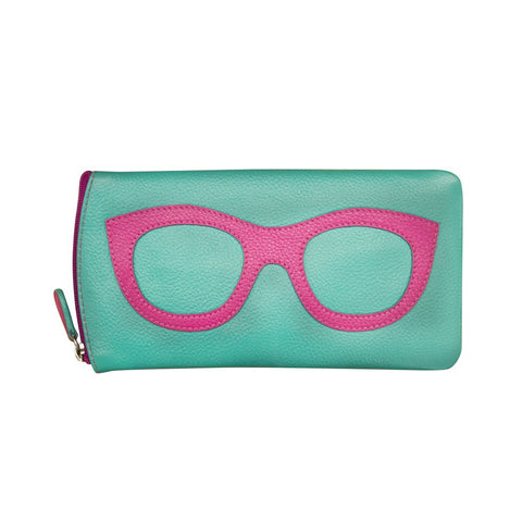 Leather Eyeglass Case with Frame Design