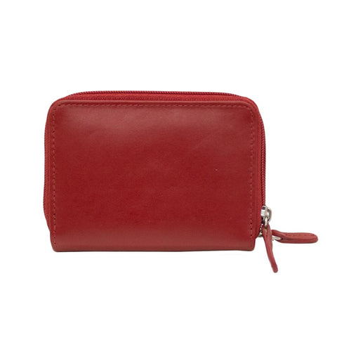 Red Credit card holder with zipper
