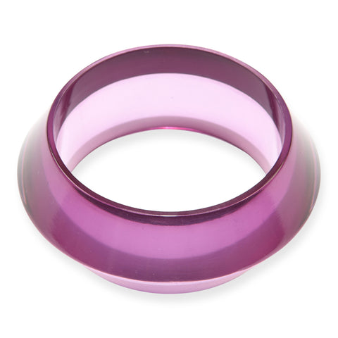 Lucite Geometric Bangle