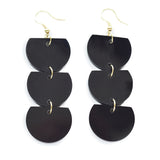 Lucite Trio Half Circle Earrings