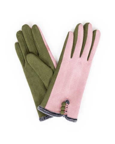 Amanda Faux Suede Gloves
