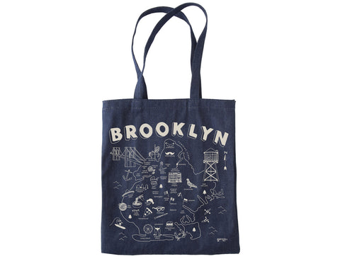 Tote Denim Brooklyn Grocery