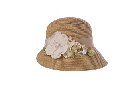Linen Rose Bouquet Hat