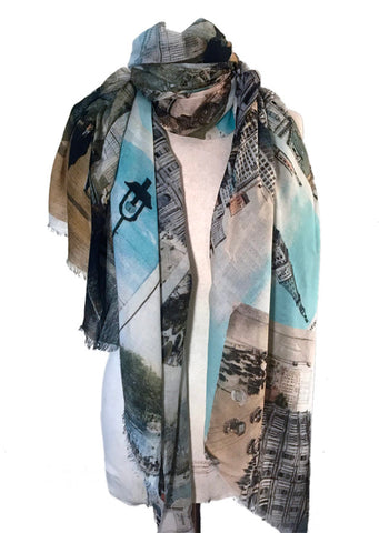NYC Postcards Scarf